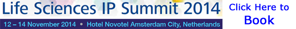 Banner C5 Communications Life Sciences IP Summit 2014 Amsterdam 600x60px