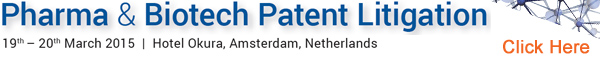 Banner C5 Communications Biotech Patent Litigation 2015 Amsterdam 600x60px
