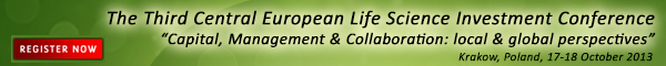 Banner LSBC Central European Life Science Investment Conference 2013 600x60px